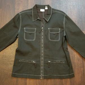 Chico's Zip Blazer Jacket Size 2 (L US)